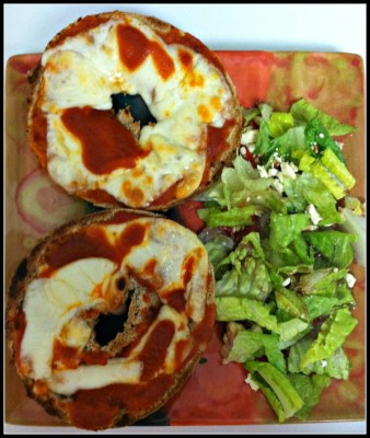 pizza bagel