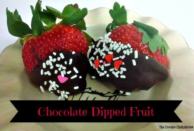chocolate dipped fruit