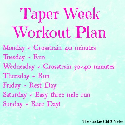 taper week workout plan