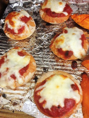pizza bites in oven
