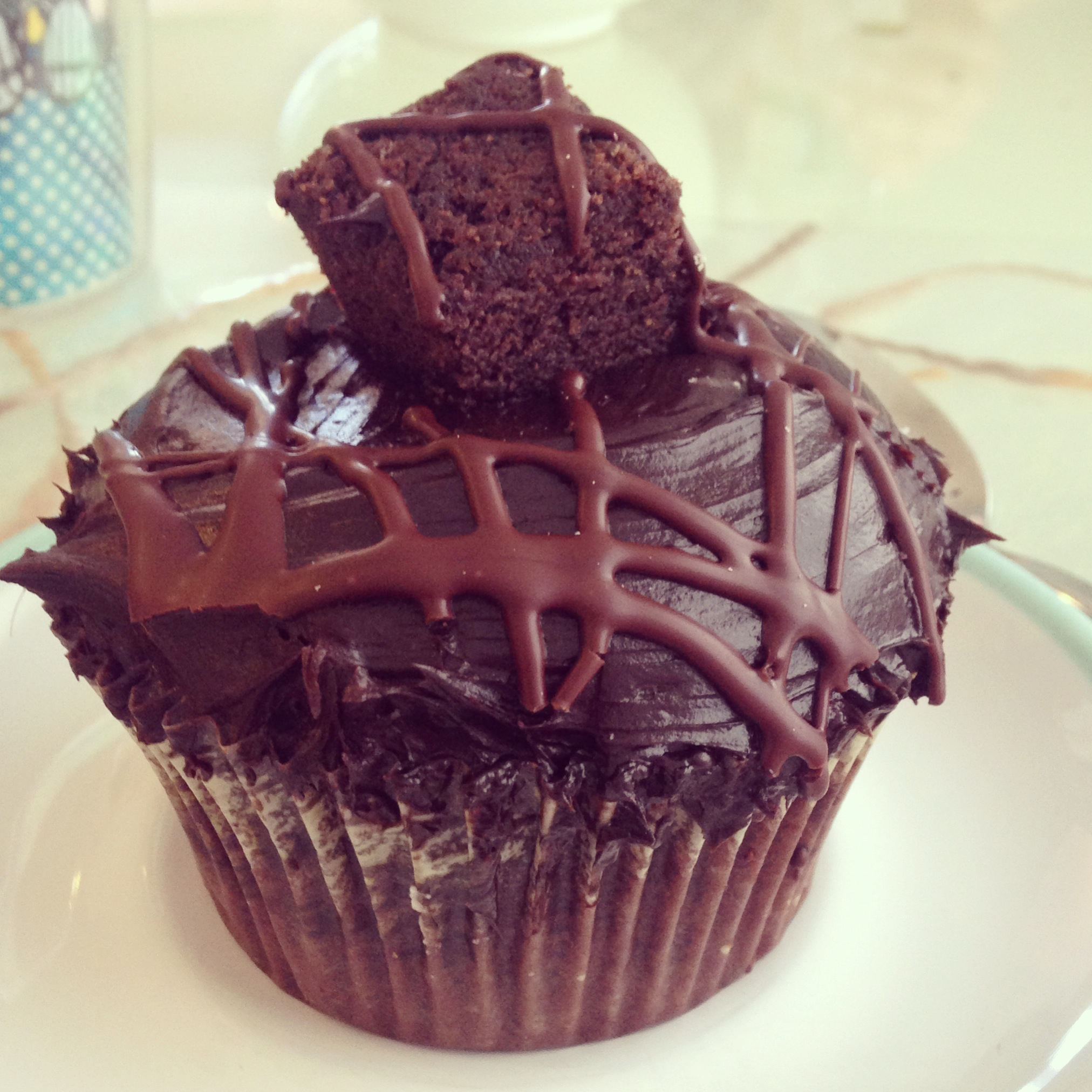 ... Fudge Brownie Cupcake filled and frosted with thick chocolate fudge