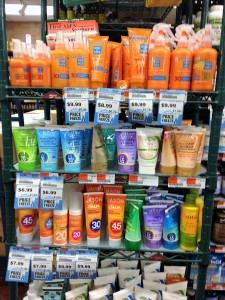 sunscreen display