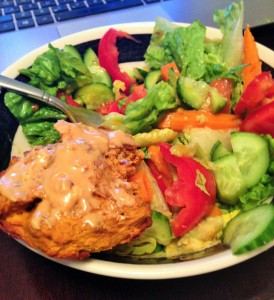 grain free muffin and salad