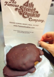 chocolate covered cookie