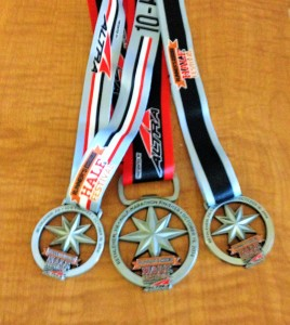 Runner's World Hat Trick Race Medals