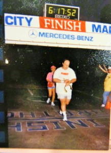 1986 New York City Marathon Finish Line