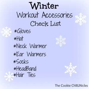 winter workout accessories check list