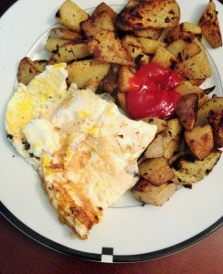 omelette with home fries