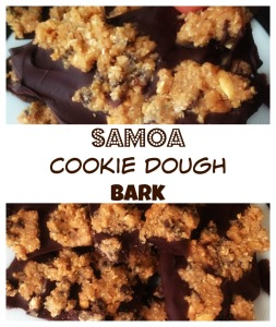 samoa cookie dough bark