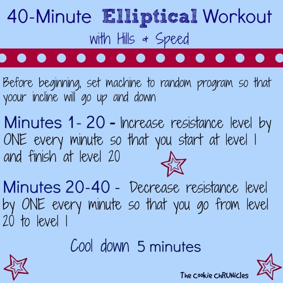 elliptical workout