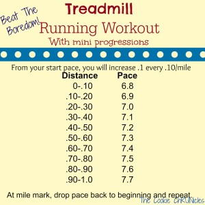 treadmill running workout