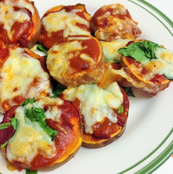sweet potato pizza bites