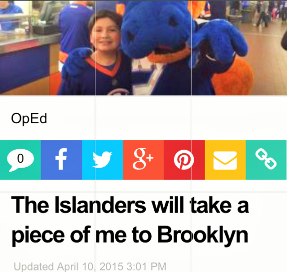 Islanders article in Newsday