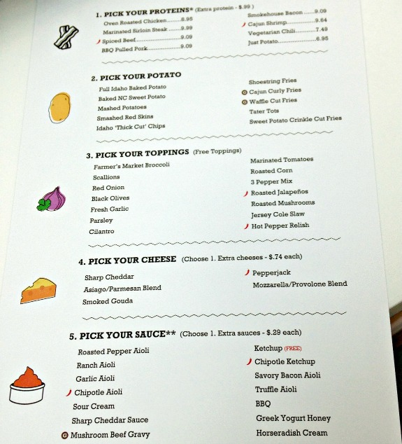 Potatopia Menu