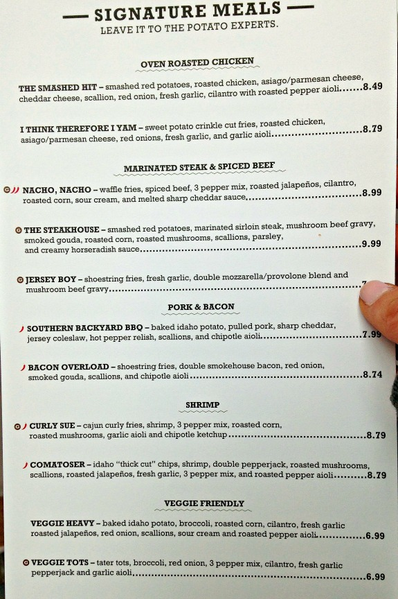 potatopia signature menu