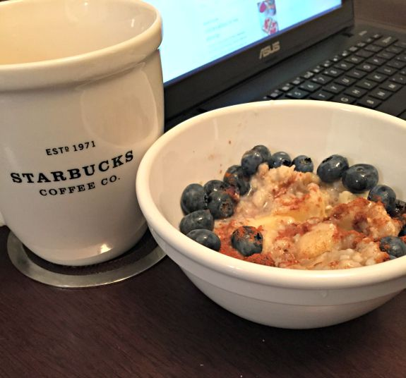 oatmeal with coffee