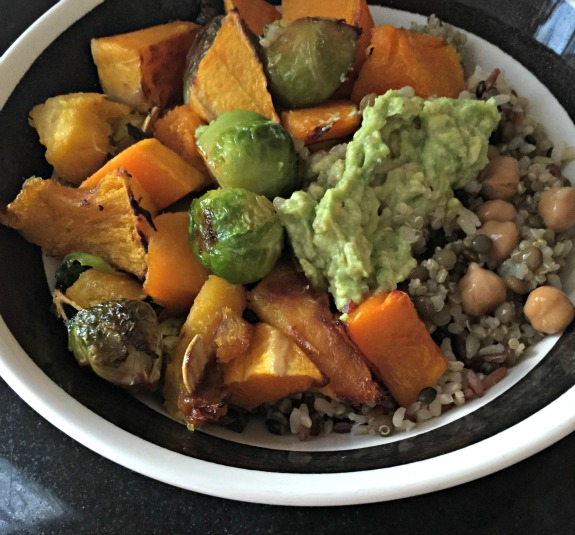 roasted fall veggie bowl