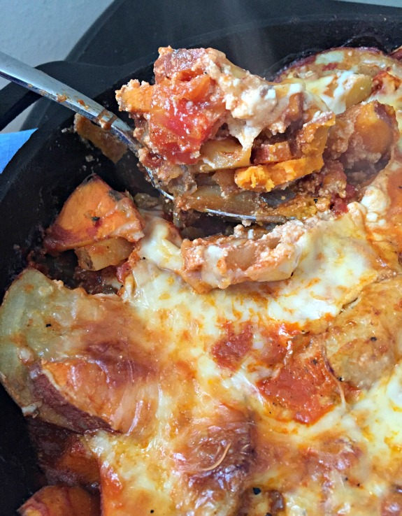 cast iron skillet potato lasagna