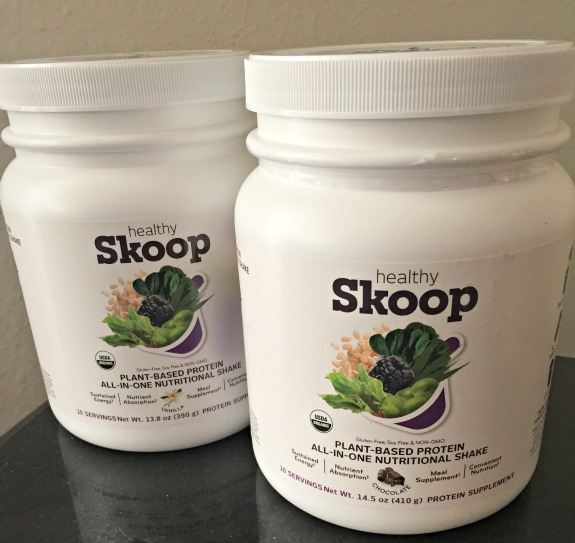 Skoop All In One Nutritional Shake plus Blueberry Pie Protein Oatmeal Recipe