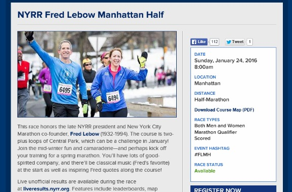 Fred Lebow Manhattan Half