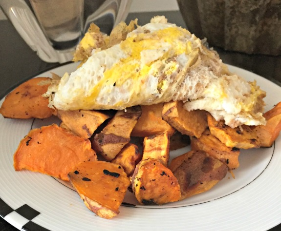 eggs with sweet potatoes