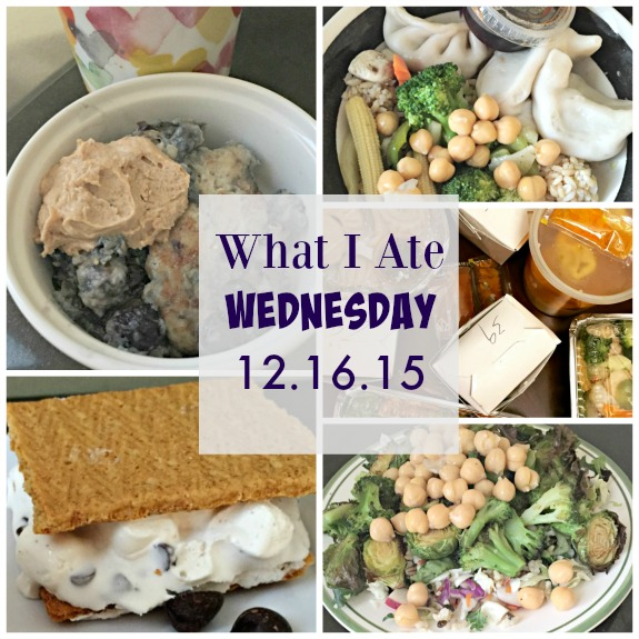What I Ate Wednesday 12-16-15