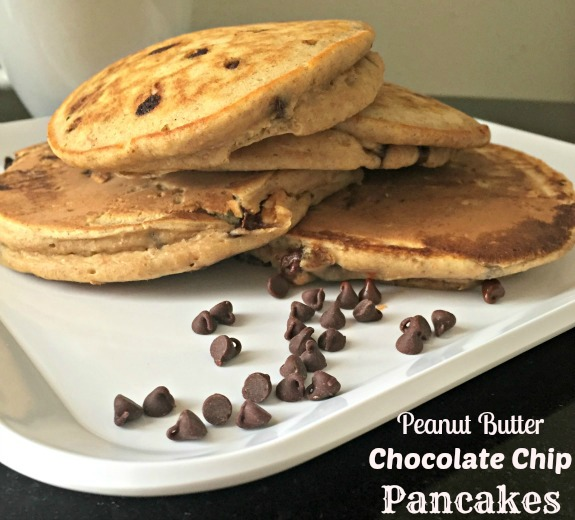 peanut butter chocolate chip pancakes