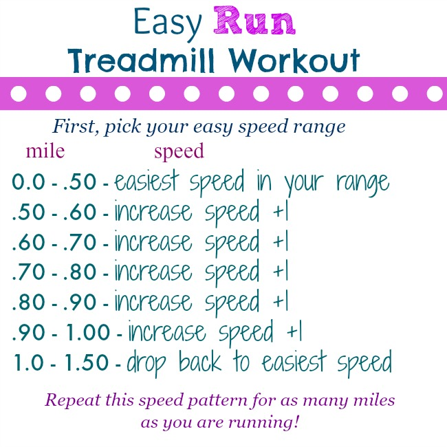 easy run treadmill workout
