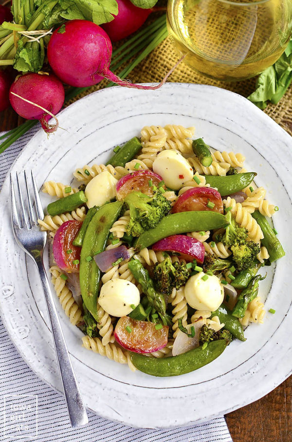 Pasta-with-Roasted-Spring-Vegetables-and-Marinated-Mozzarella-iowagirleats-02