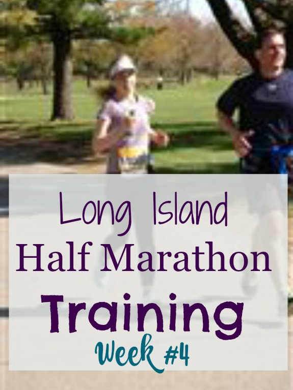 long island half marathon training week #4