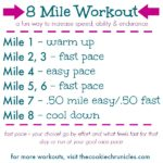 New 8 Mile Workout which is engaging and challenging in a good way! Work on your tempo paces and customize it to fit your current training plans