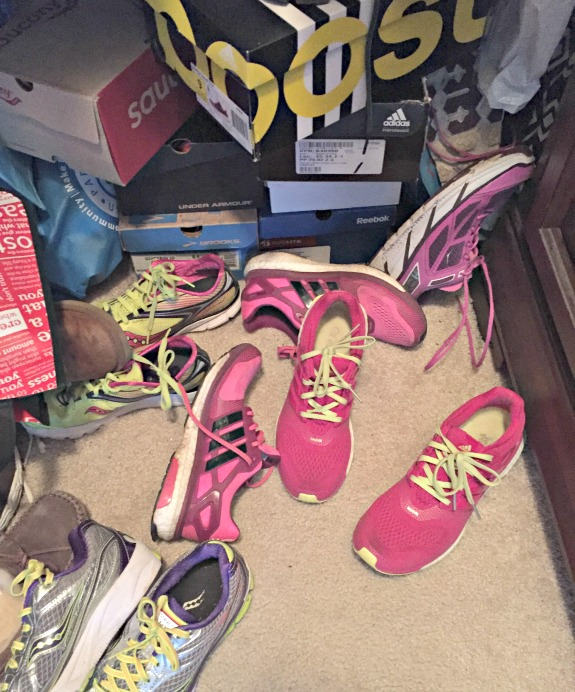 running shoes closet