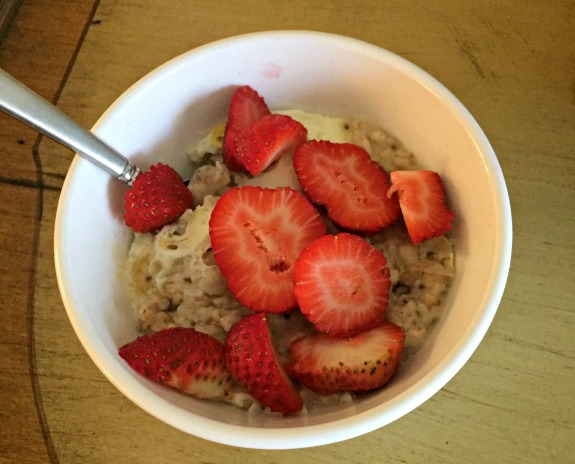 post run oatmeal
