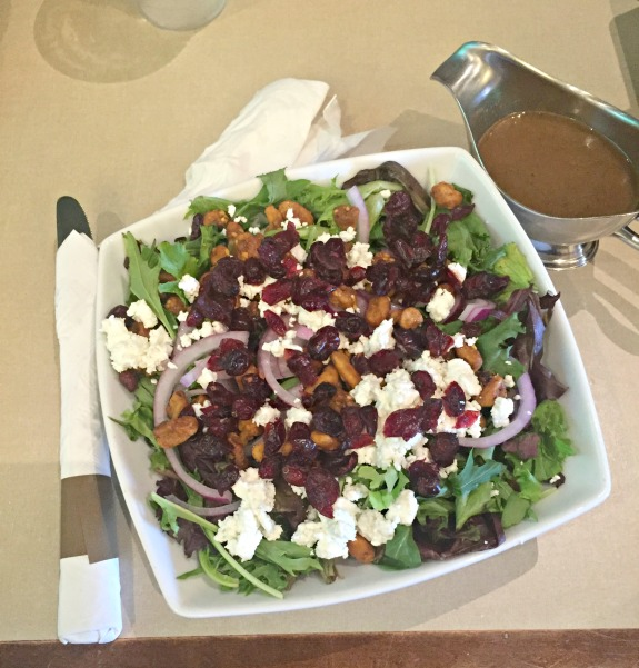 cranberry, walnut and goat cheese salad
