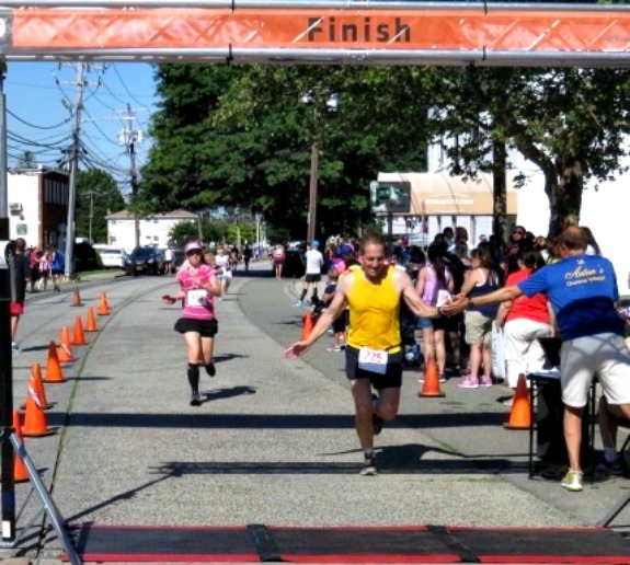 finish line at race