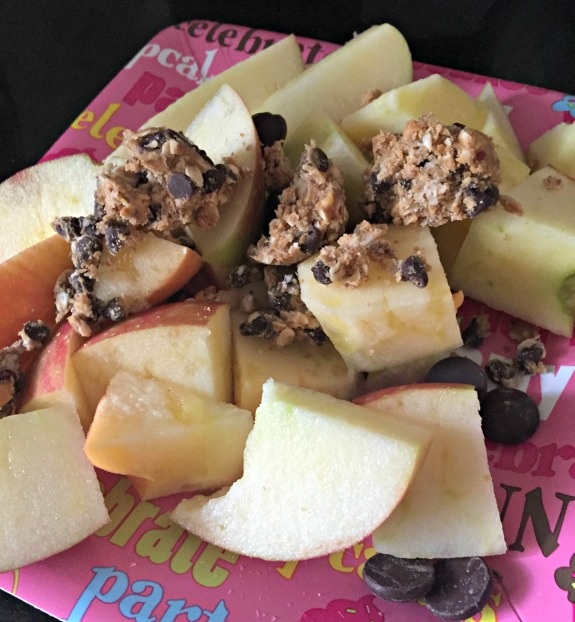 apple with protein bites