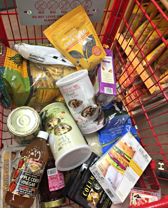 Trader Joe's food shopping