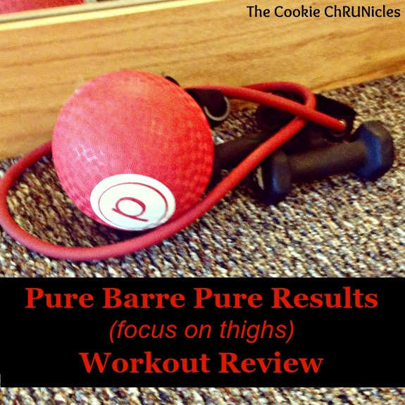 Reviewing the Pure Barre Pure Results online workout with featured focus on thighs!