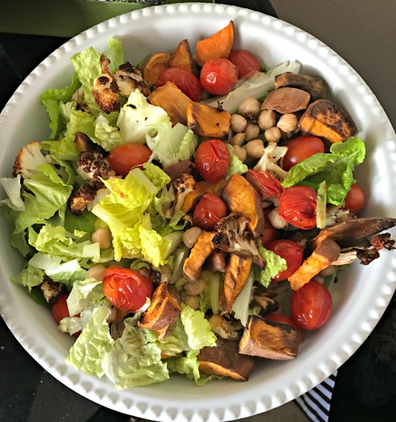 big salad for lunch