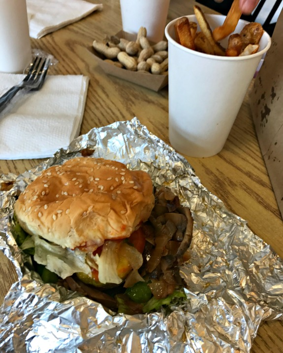 Five Guys veggie sandwich