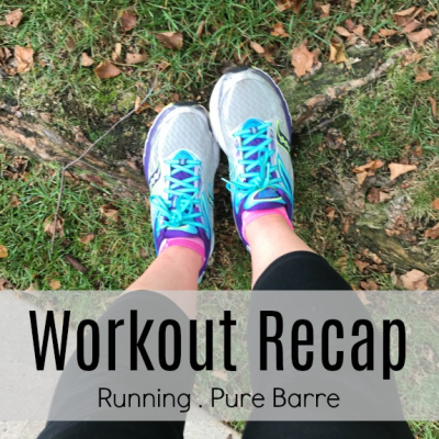 workout recap running pure barre