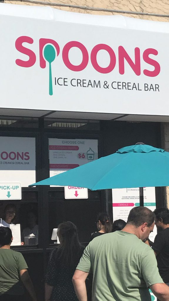 spoons ice cream cereal bar