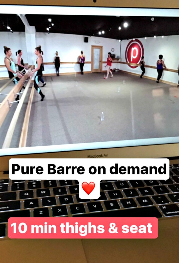 pure barre thighs and seat
