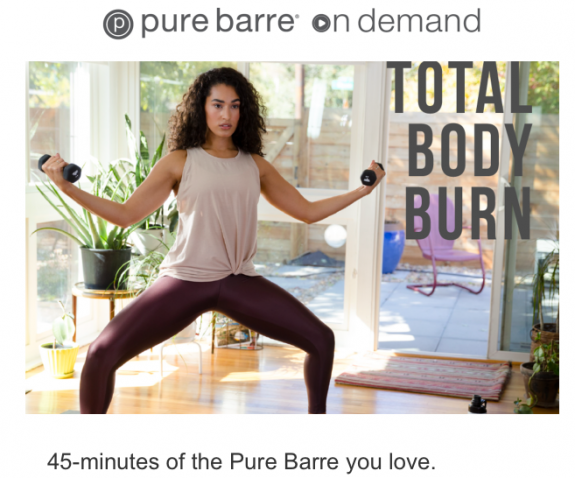 pure barre on demand workout
