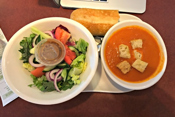 panera tomato soup and salad