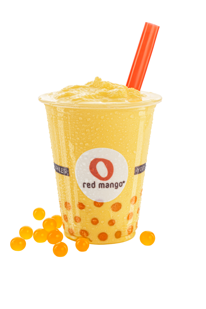 red mango frozen yogurt smoothies