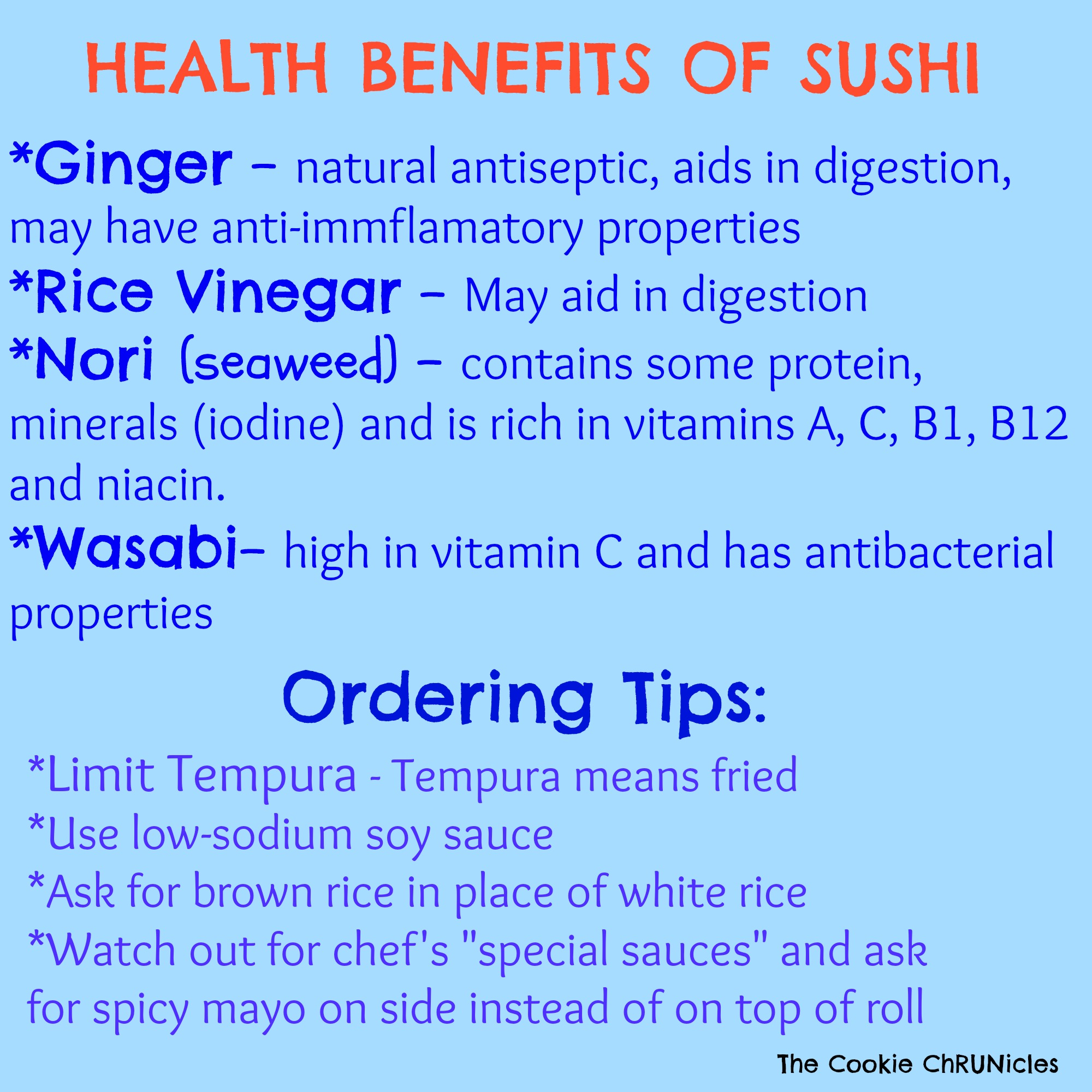 Three Tip Tuesday- Eat Your Sushi