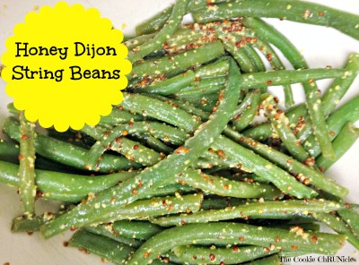 honey dijon string beans