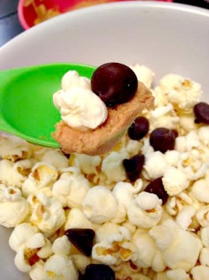 popcorn with pb and chocolate