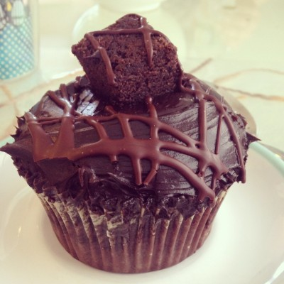 chocolate fudge brownie cupcake from crumbs